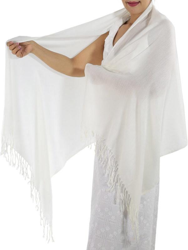 ivory cashmere scarf 2