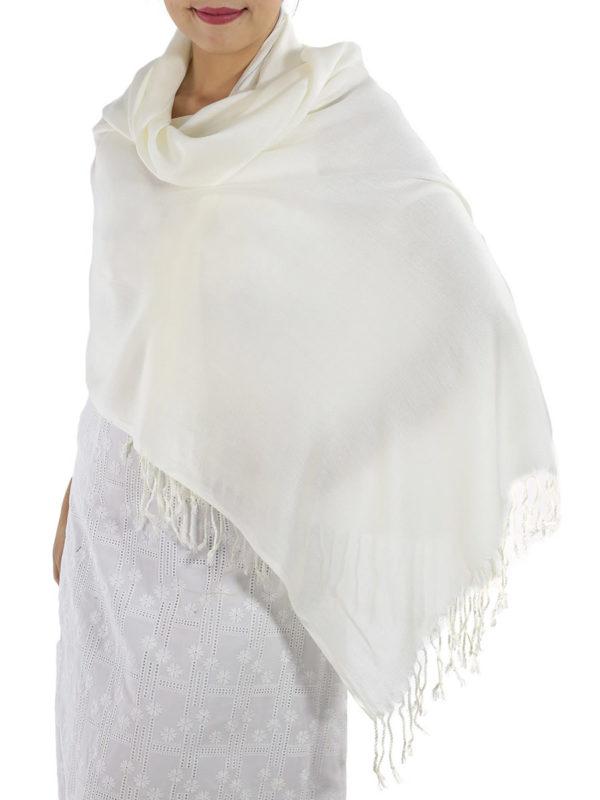 ivory cashmere wrap