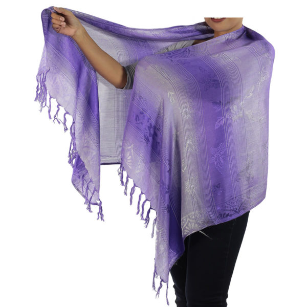 lavender scarf from thailand