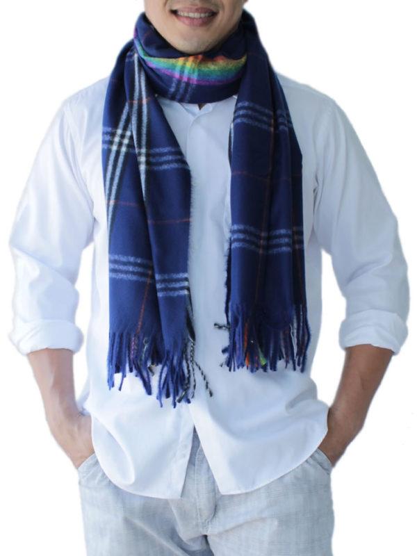 mens blue scarves 6
