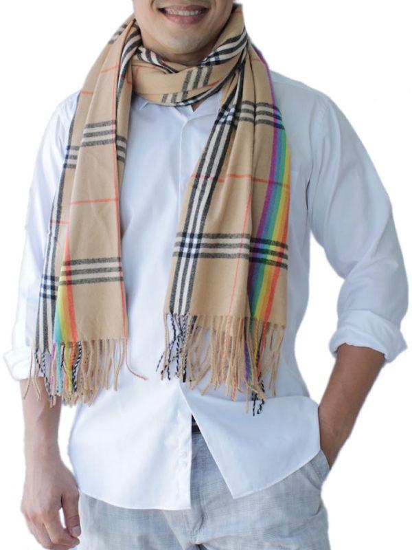 mens brown scarf