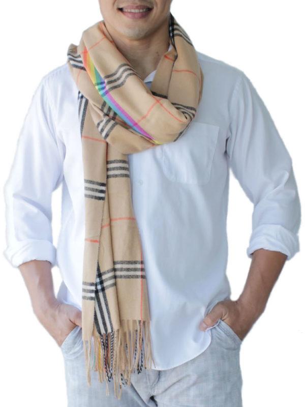 mens brown scarves
