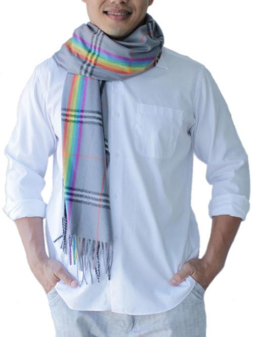 mens grey scarves