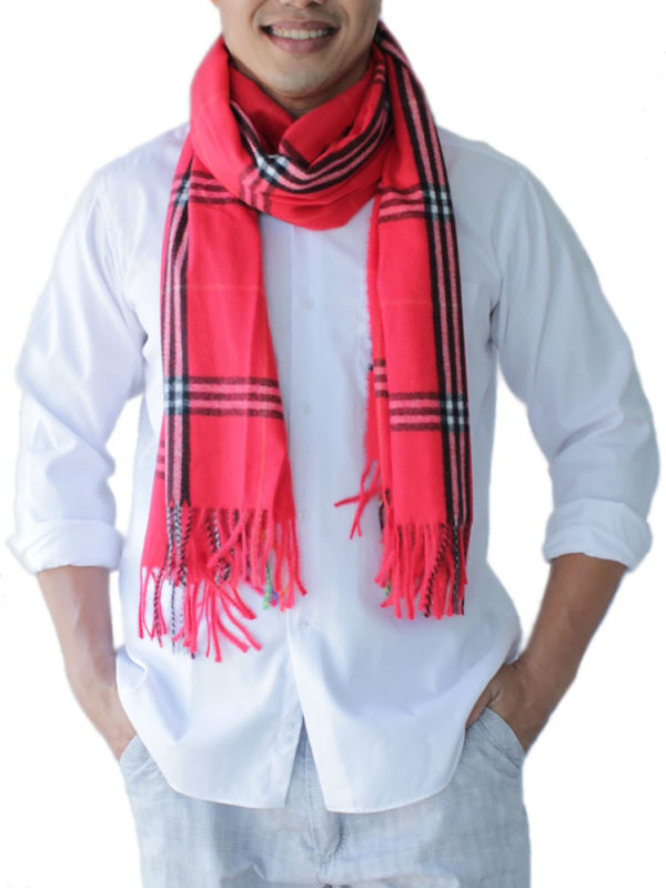 mens red scarf