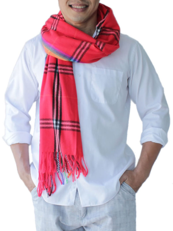 mens red scarves