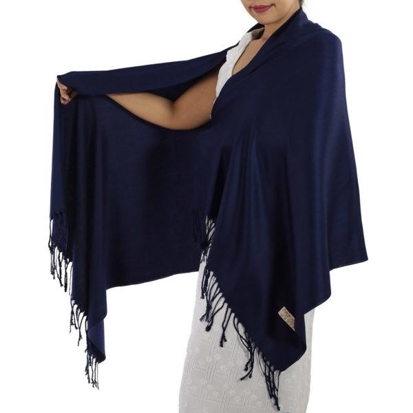 navy blue pashmina scarf 1