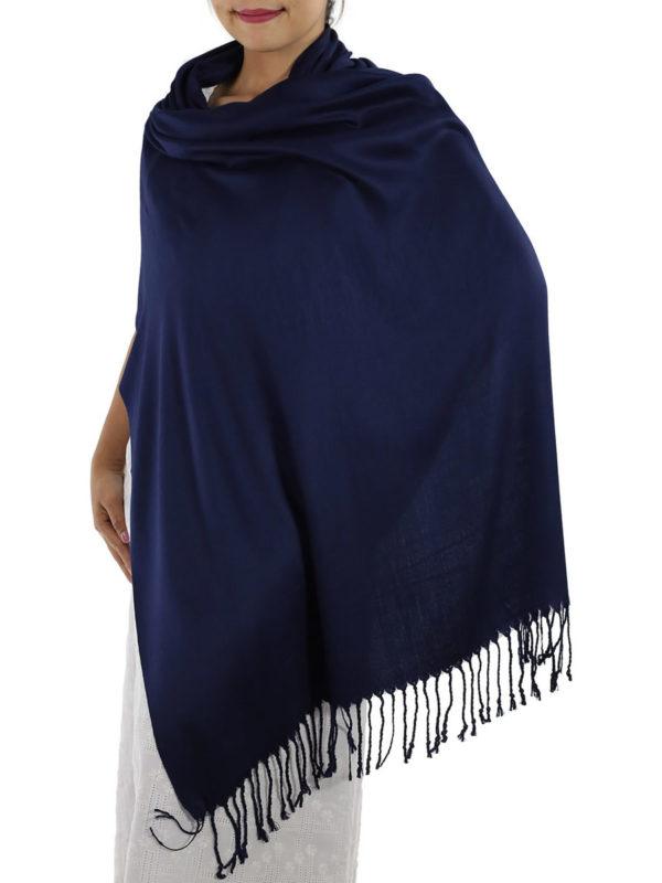 navy blue pashmina shawl