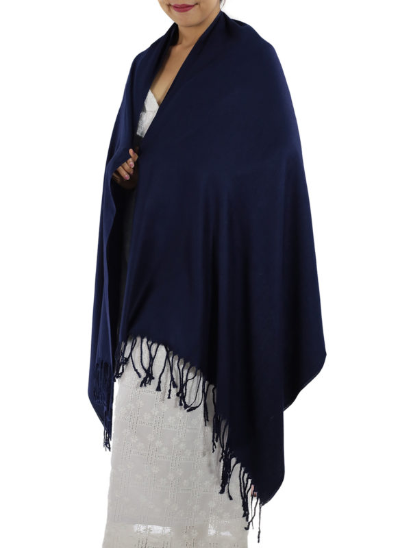 navy blue pashmina wrap