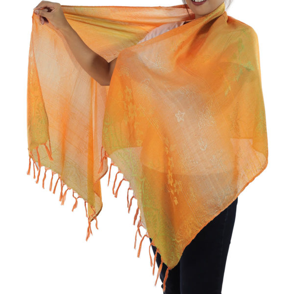 orange scarf from thailand