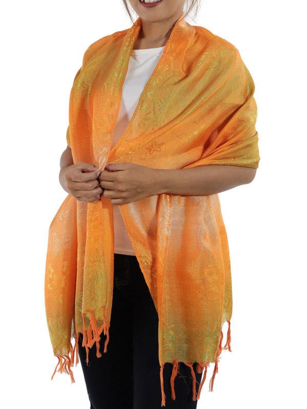 orange shawl from thailand