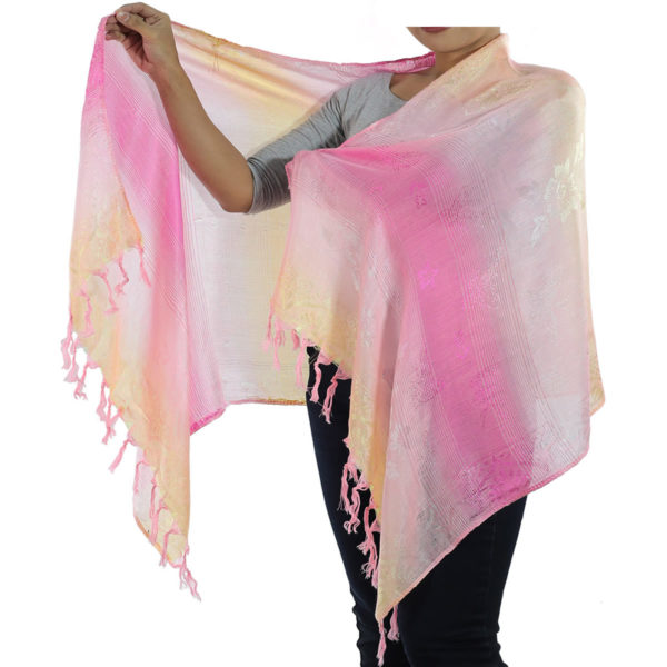 pink scarf from thailand
