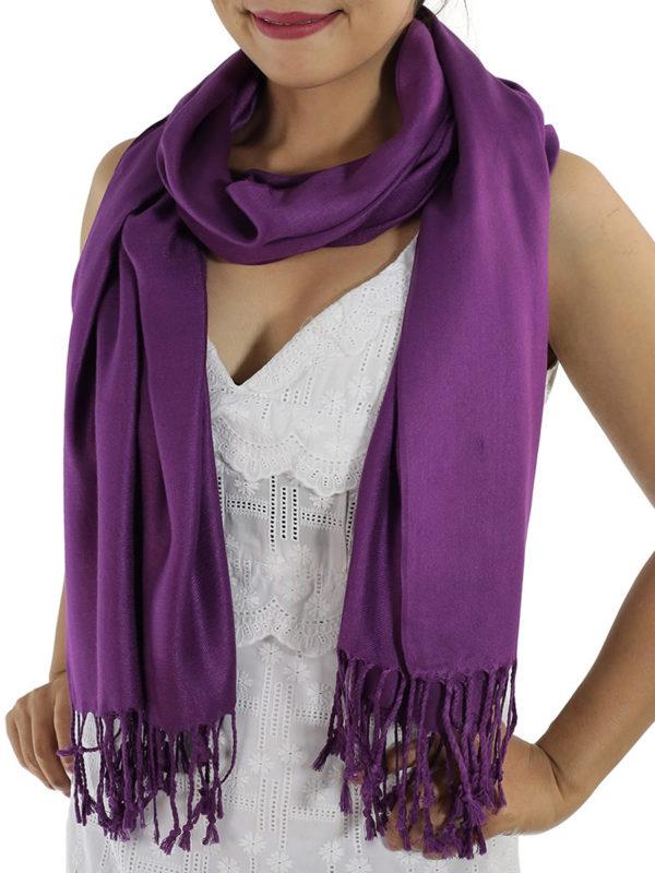 purple 2 pashminas