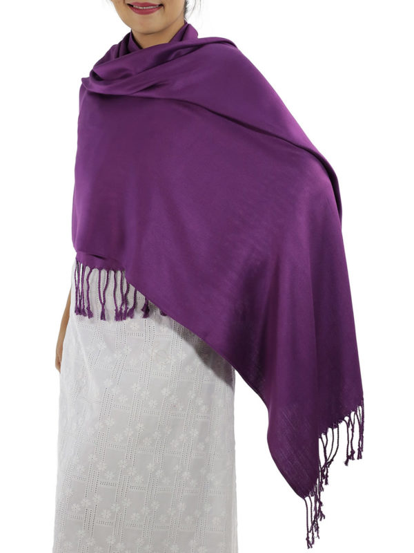 purple pashmina wrap