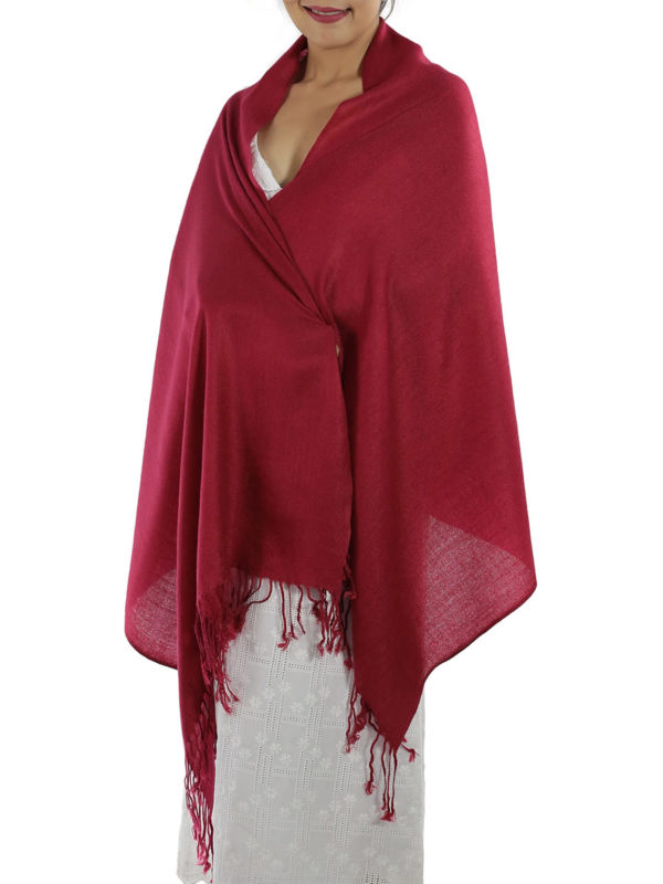 red pashmina shawl