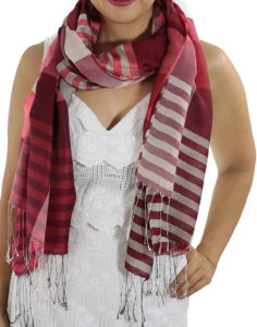 red plaid scarves