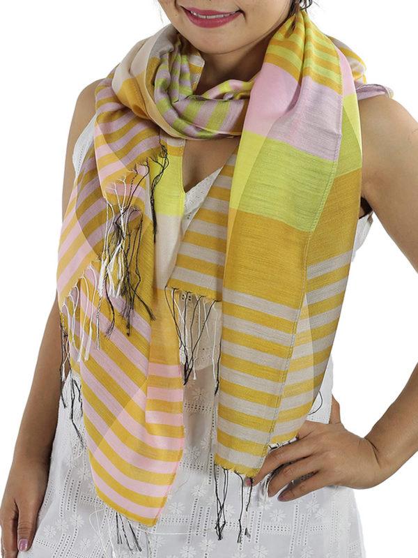yellow plaid scarves